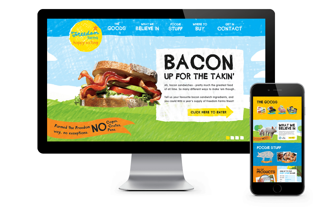 freedom farms fracture html5 website design
